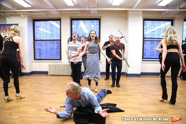 Laura Osnes and Harry Groener with cast