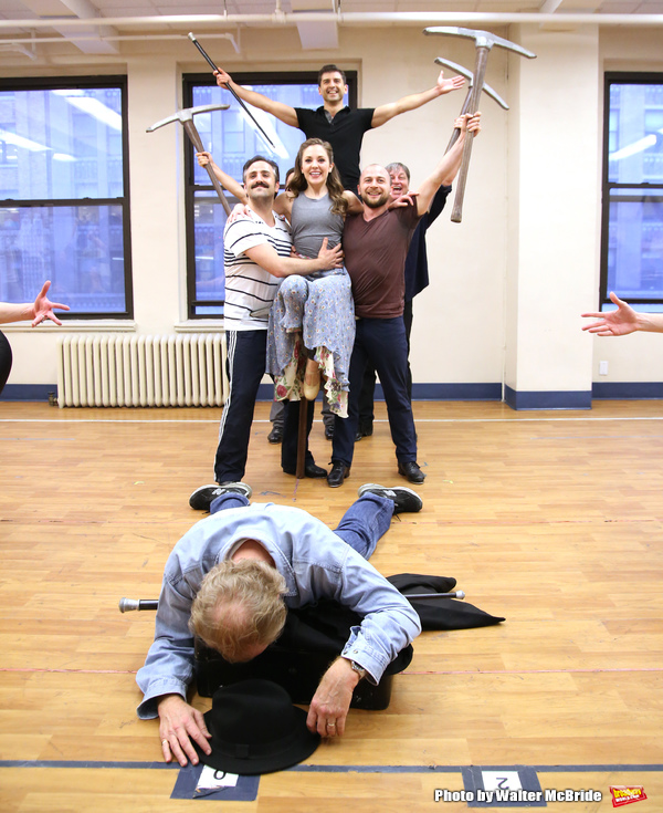 Laura Osnes and Tony Yazbeck with cast