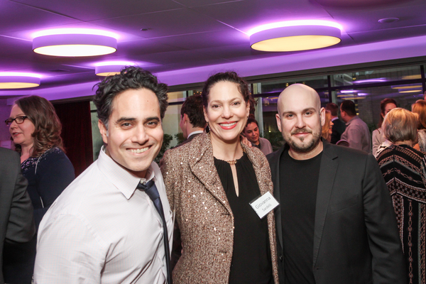 Rajiv Joseph, Giovanna Sardelli and Robert Askins attend NSangou Njikam's World Premiere Syncing Ink on Opening Night, part of the Alley Theatre All New Play Festival. February 8, 2017. Photo by Kim Coffman.