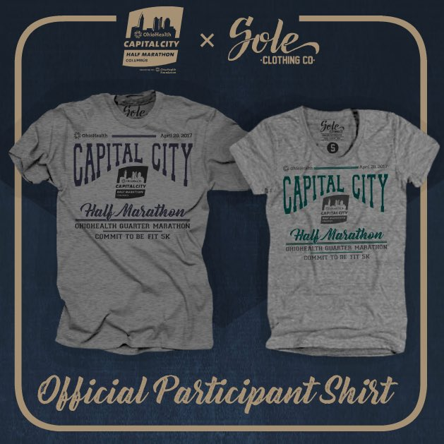 Capital City Half Marathon Reveals 2017 Official Race T-Shirts