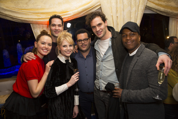 Josh Gad and Daisy Ridley, Lucy Boynton, Manuel Garcia Rulfo, Tom Bateman and Leslie Odom, Jr.