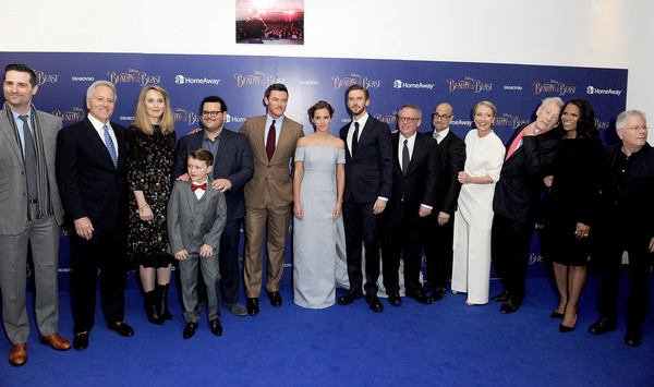 Todd Lieberman, David Hoberman,Hattie Morahan, Nathan Mack, Josh Gad, Luke Evans, Emm Photo