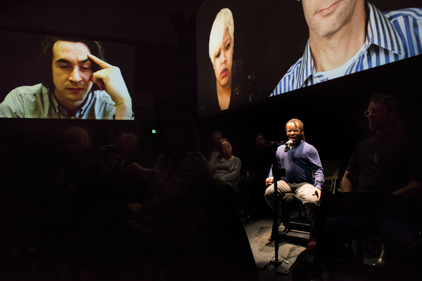 THE SOURCE, composed by Ted Hearne, libretto by Mark Doten, and directed by Daniel Fish, at SF Opera Lab on Thursday night, February 23, 2017.