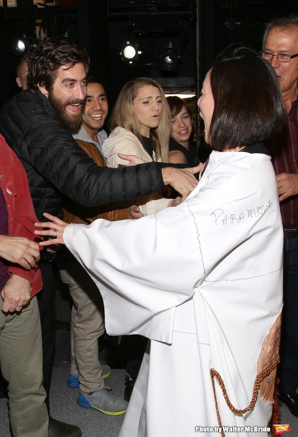 Jake Gyllenhaal and Annaleigh Ashford with MaryAnn Hu