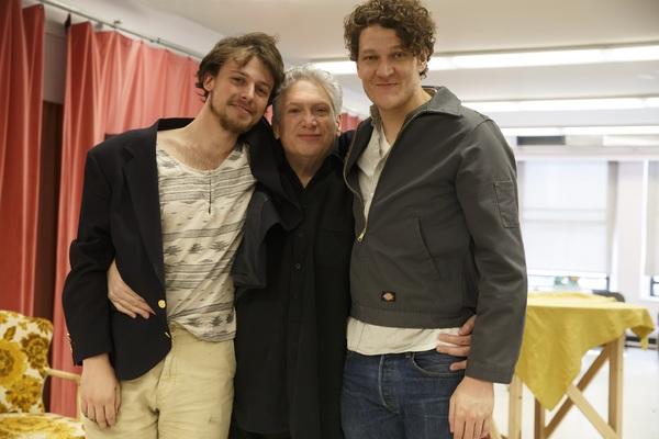 Christopher Sears, Harvey Fierstein, and Gabriel Ebert