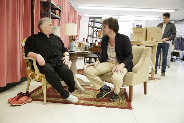 Harvey Fierstein, Christopher Sears, and Gabriel Ebert