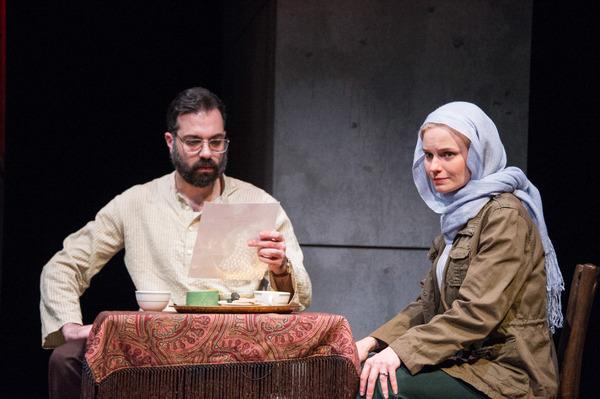 Ethan Hova as Dr. Malik Nazari and Hannah Yelland as Valerie Plame Photo