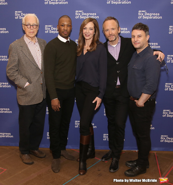 John Guare, Actors Corey Hawkins, Allison Janney, John Benjamin Hickey and  Trip Cull Photo