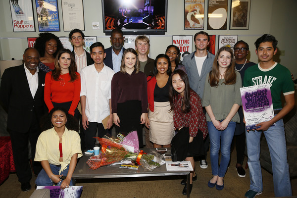 The judges and regional finalists backstage at the Mark Taper Forum after the 2017 August Wilson Monologue Competition
