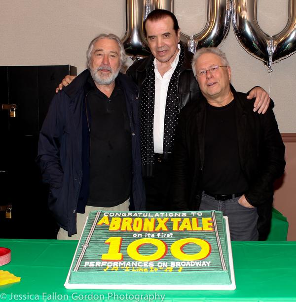 Robert De Niro, Chaz Palminteri and Alan Menken Photo
