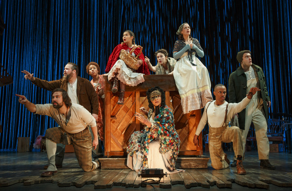 The cast of the Fiasco Theater's INTO THE WOODS, coming to the Ahmanson Theatre this spring.