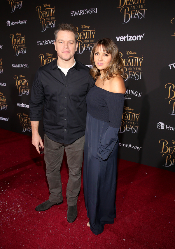 Matt Damonand Luciana Barroso Photo
