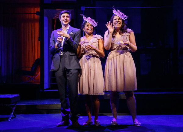 Gideon Glick, Rebecca Naomi Jones and Lindsay Mendez. Photo credit: Joan Marcus