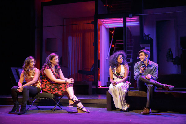 Sas Goldberg, Lindsay Mendez, Rebecca Naomi Jones and Gideon Glick. Photo credit: Joan Marcus