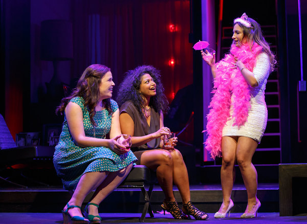 Lindsay Mendez, Rebecca Naomi Jones and Sas Goldberg. Photo credit: Joan Marcus