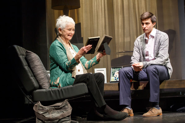Barbara Barrie and Gideon Glick. Photo credit: Joan Marcus