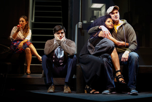 Sas Goldberg, Gideon Glick, Rebecca Naomi Jones and Luke Smith. Photo credit: Joan Marcus