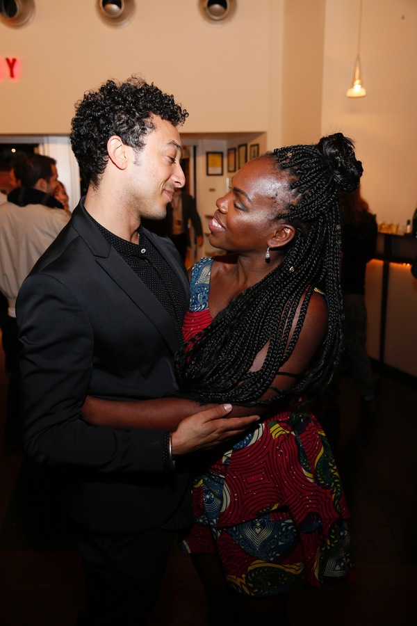 Cast member Wade Allain-Marcus and cast member/playwright Ngozi Anyanwu