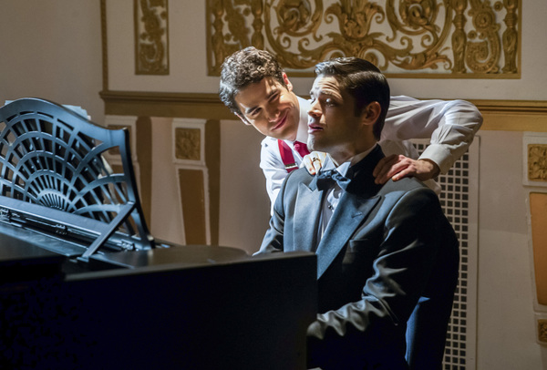 Pictured (L-R): Darren Criss as Music Meister and Jeremy Jordan as Winn Schott -- Photo: Jack Rowand/The CW