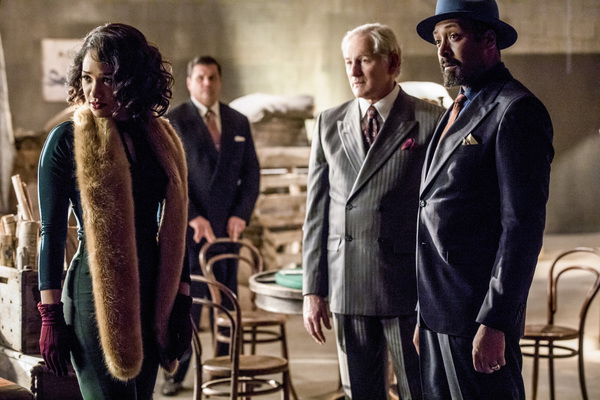 Pictured (L-R): Candice Patton as Iris West, Victor Garber as Professor Martin Stein and Jesse L. Martin as Detective Joe West -- Photo: Jack Rowand/The CW