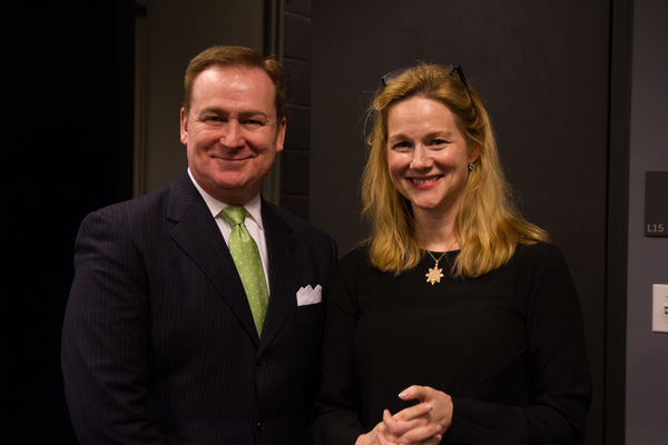 Laura Linney with Lincoln Center''s Patrick Hoffman