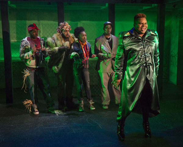 (left to right) Gilbert Domally, Chuckie Benson, Sydney Charles, Steven Perkins and Frederick Harris in Kokandy Productions' revival of THE WIZ, directed by Lili-Anne Brown with music direction by Jimmy Morehead. Photo by Michael Brosilow.