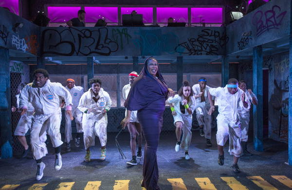 (center) Nicole Michelle Haskins with the cast of Kokandy Productions' revival of THE WIZ, directed by Lili-Anne Brown with music direction by Jimmy Morehead. Photo by Michael Brosilow.