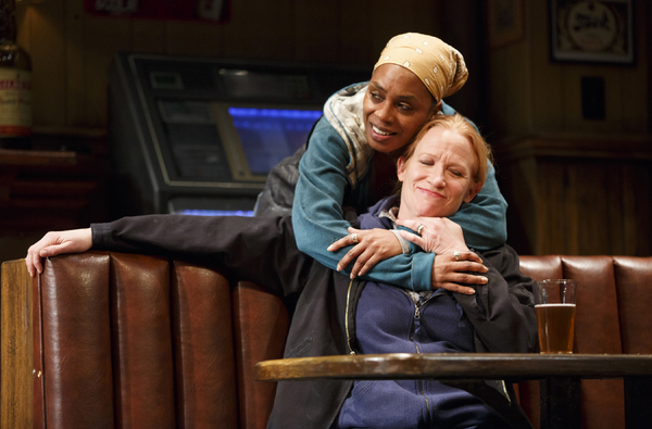 Michelle Wilson as Cynthia and JohAnna Day as Tracey. Photo by Joan Marcus