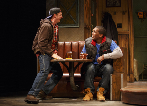 Will Pullen as Jason and Khris Davis as Chris. Photo by Joan Marcus