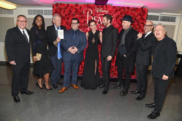 Bill Condon, Audra McDonald, Ian McKellen, Josh Gad, Emma Watson, Dan Stevens, Ewan McGregor, Stanley Tucci, and Alan Menken