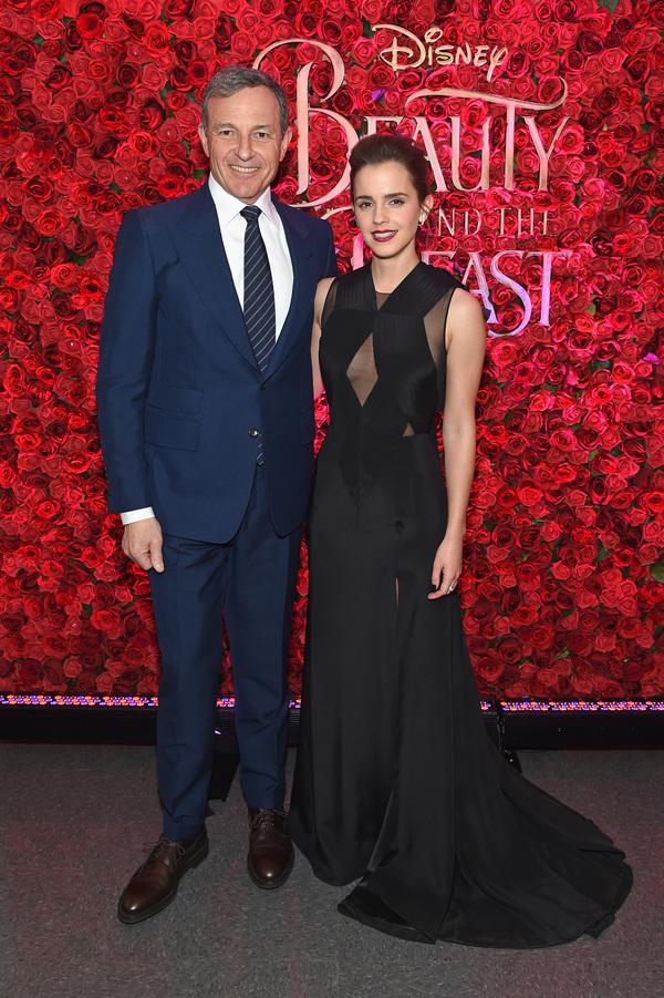 Bob Iger and Emma Watson