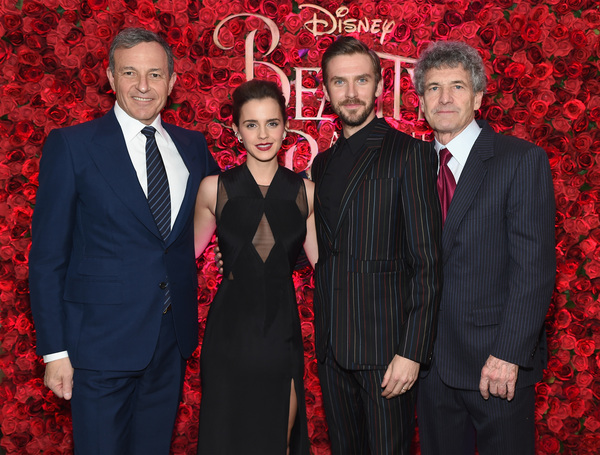 Bob Iger, Emma Watson, Dan Stevens, and Alan F. Horn