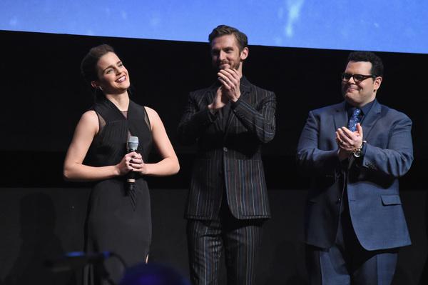 Emma Watson, Dan Stevens, and Josh Gad