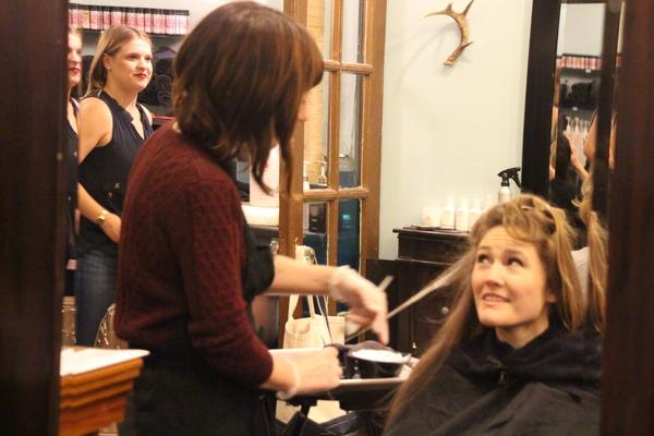 Fringe Salon's Amy Schiappa and THE LIGHTNING THIEF's Kristin Stokes