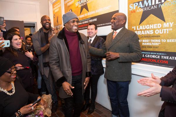 Photo Flash: HAMILTON's Wayne Brady and More Celebrate SPAMILTON's Chicago Opening