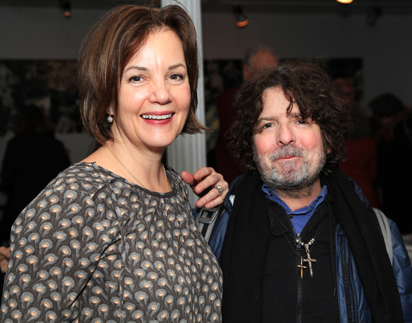 Margaret Colin and Billy Hopkins