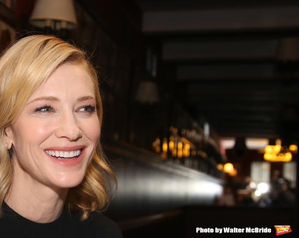 Photo Coverage: THE PRESENT's Cate Blanchett and Richard Roxburgh Unveil Portraits at Sardi's!