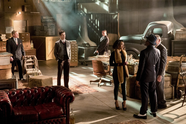 Grant Gustin, Candice Patton, Jesse L. Martin and Victor Garber