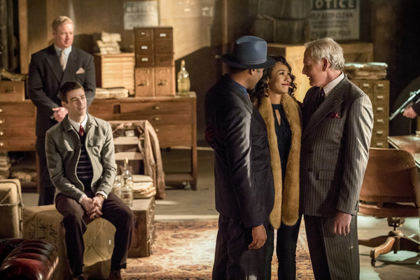 Candice Patton, Jesse L. Martin and Victor Garber