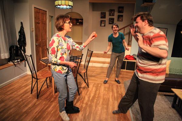 Heidi Katz, Amy Johnson and Justin Tsatsa