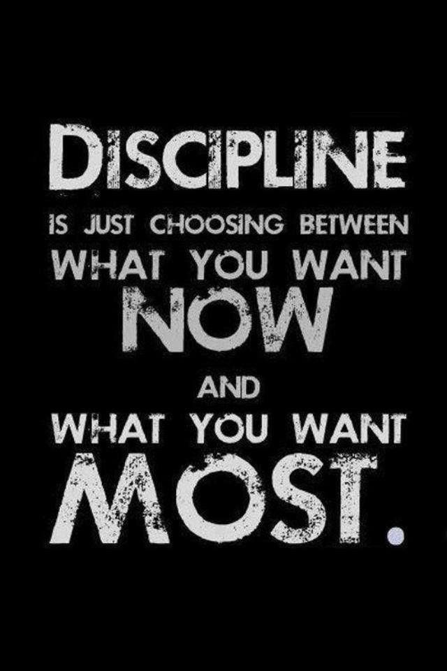 Fitness Tip of the Day: Be Disciplined