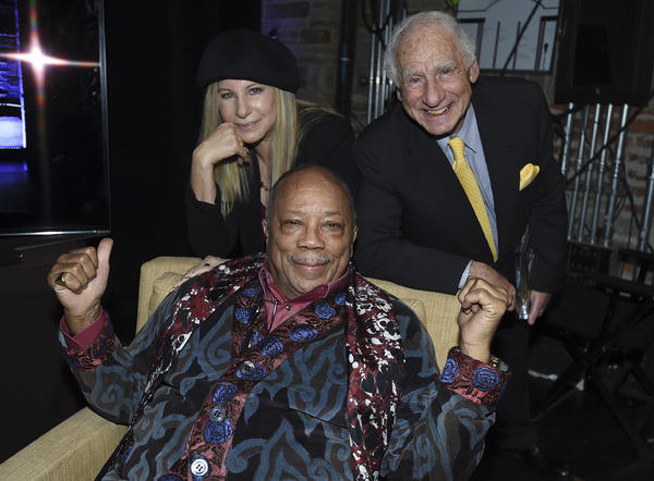 Barbra Streisand, Quincy Jones, and Mel Brooks
