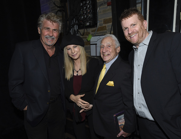 James Brolin, Barbra Streisand, Mel Brooks and Gil Cates Jr.