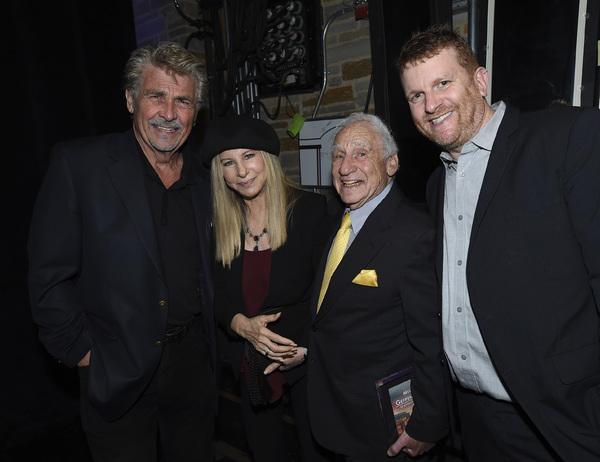 James Brolin, Barbra Streisand, Mel Brooks and Gil Cates Jr. Photo