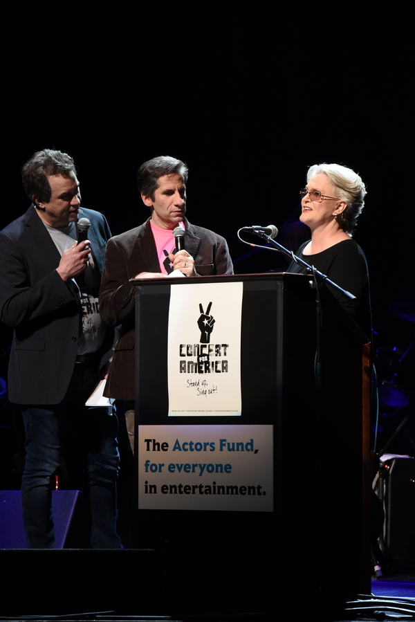James Wesley, Seth Rudetsky and Sharon Gless