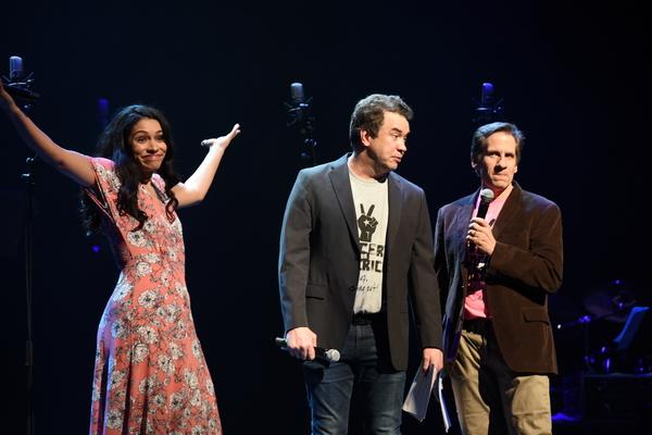 Miranda Rae Mayo, James Wesley and Seth Rudetsky