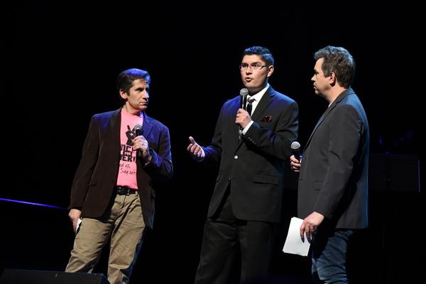 Seth Rudetsky, Julio Guzman and James Wesley