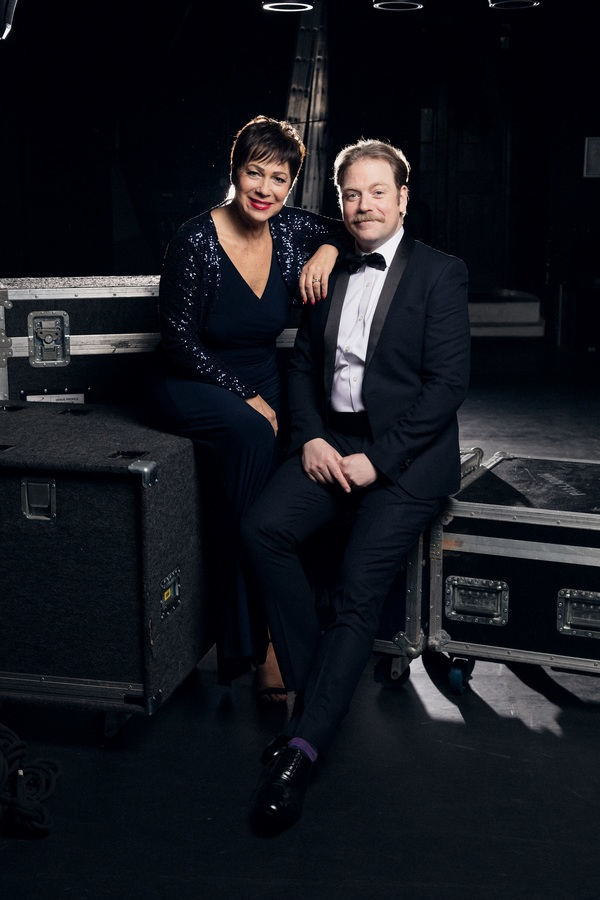 Denise Welch and Rufus Hound