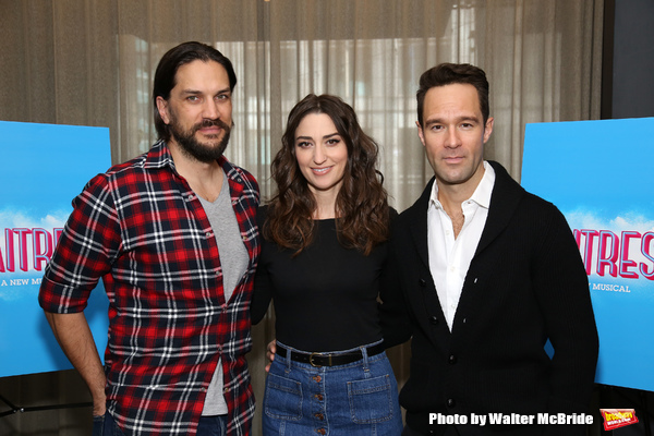 Photo Coverage: Sara Bareilles, Chris Diamantopoulos and Will Swenson Get Ready for WAITRESS