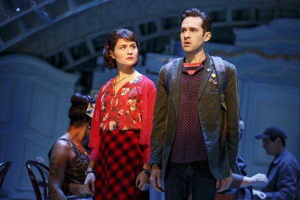 Phillipa Soo and Adam Chanler-Berat